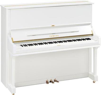 Yamaha Pianos Silent U3 SH2 PWH Silent, blanc poli-brillant, 131 cm