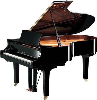 Yamaha Pianos Silent C5X SH2 PE Noir poli-brillant 200 cm
