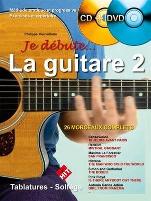 Je Débute… la Guitare 2 avec CD et DVD / Philippe Heuvelinne / Hit Diffusion