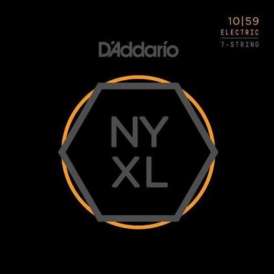 D'Addario El. 7-String »New York XL» Nickel Round Wound .010-.059 Regular Light
