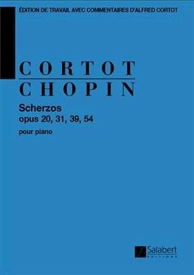 Scherzos Op 20, 31, 39, 54 Edition De Travail Avec Commentaires D'Alfred Cortot – Partition / Frédéric Chopin / Salabert