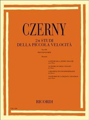 24 Studi della piccola Velocità Op.636 Per Pianoforte / Carl Czerny / Ricordi