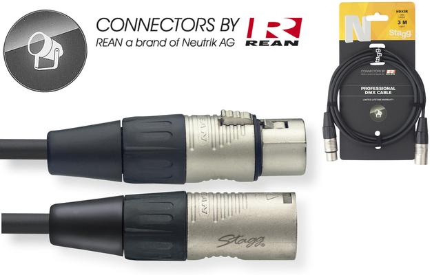 Stagg NDX5R Câble DMX 5m / 3 pins