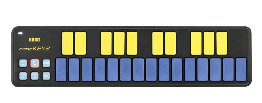 Korg Contrôleur USB NanoKey 2 25 Touches Bleu / Jaune