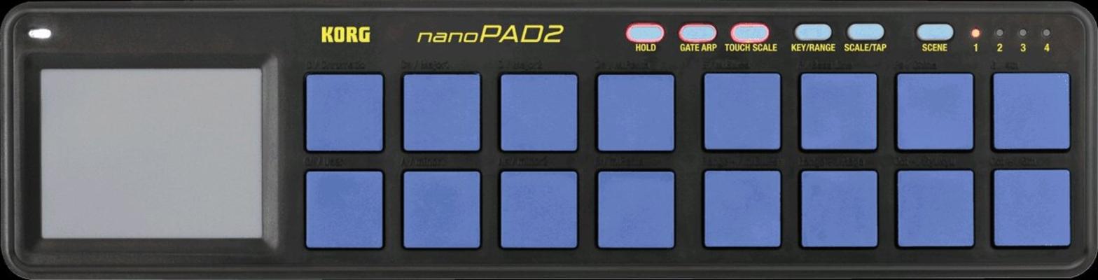 Korg Contrôleur USB NanoPad 2 16 Pads Bleu Jaune