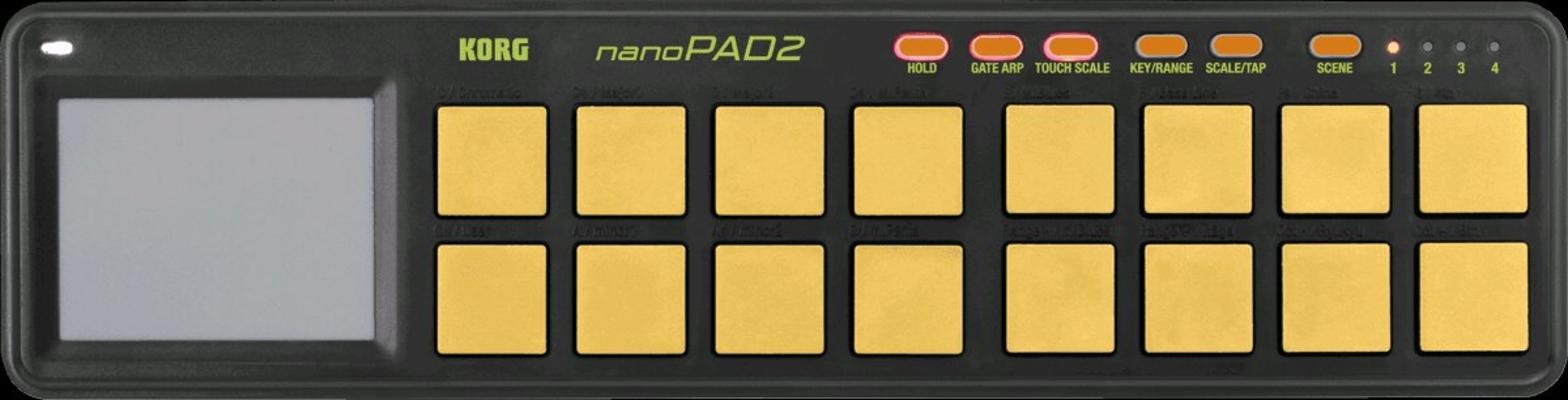 Korg Contrôleur USB NanoPad 2 16 Pads Orange Verte