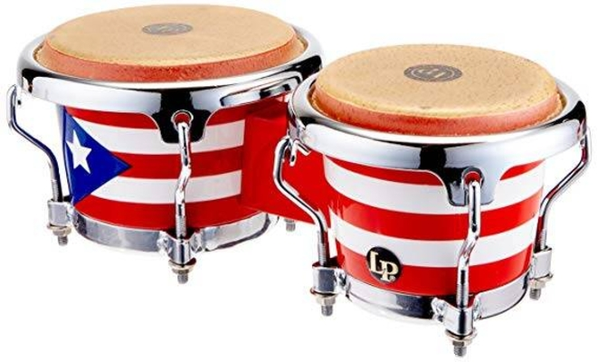 Latin Percussion Bongo Mini Tunable Santana Mini-Bongos