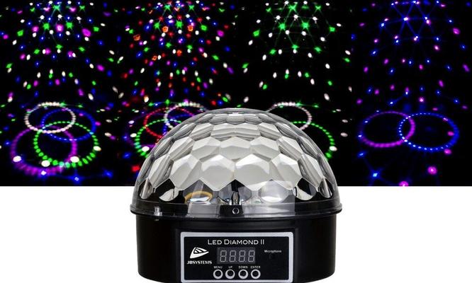 JBSYSTEMS LED DIAMOND II – DJ Effect avec 6 led de différentes couleurs