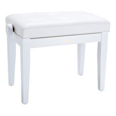Roland RPB-300WH Banquette piano blanc mat, similicuir molletonné blanc