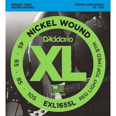D'Addario EXL165SL 045-.105 Nickel R/W. Super Long Scale, S.T./R.B.