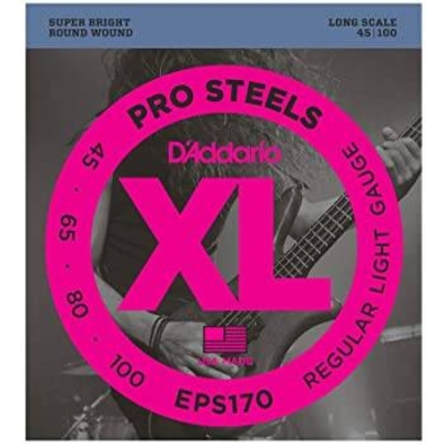D'Addario EPS170 Stainless Round W. Long Scale ..045-.100 Soft