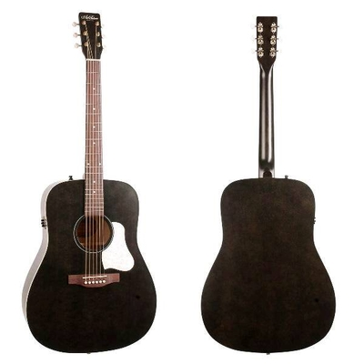Art & Lutherie A&L Dreadnought »Americana» Faded Black with Godin QIT