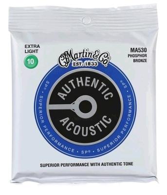 Martin & Co MA530 Authentic Acoustic SP – 92/8 Phos. Bronze .010-.047 – Extra Light