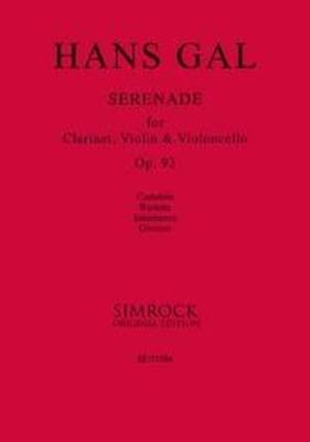 Serenade op. 93     Clarinet, Violin and Cello Studienpartitur / Hans Gal / Simrock
