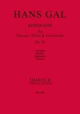 Hans Gal Serenade op. 93 Clarinet Violin and Violoncello / Hans Gal / Simrock