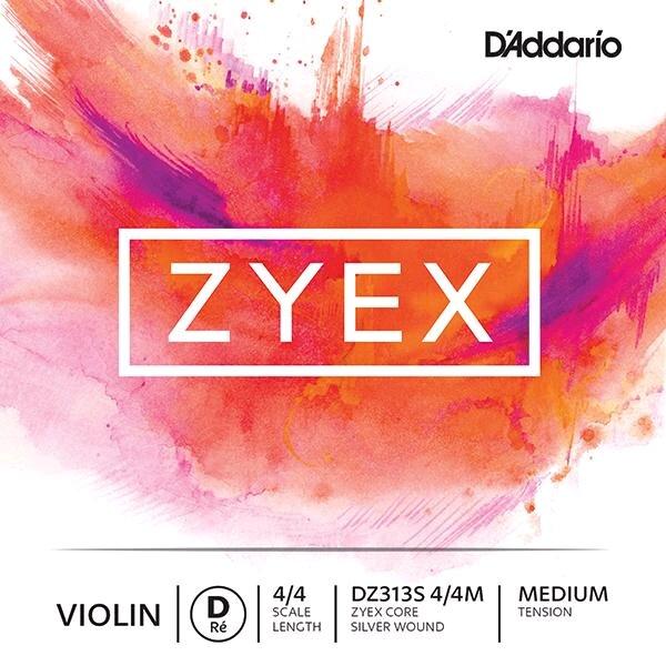 D'Addario Corde Violon ZYEX 3e RE-D argent moyen sachet : photo 1