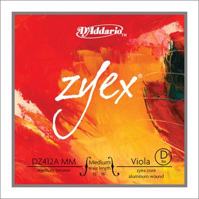D'Addario Corde Alto ZYEX 2e RE-D medium scale moyen sachet