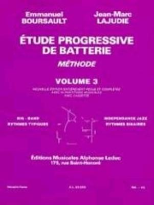 Etude Progressive de Batterie 3 Emmanuel Boursault   Drum Set /  / Leduc