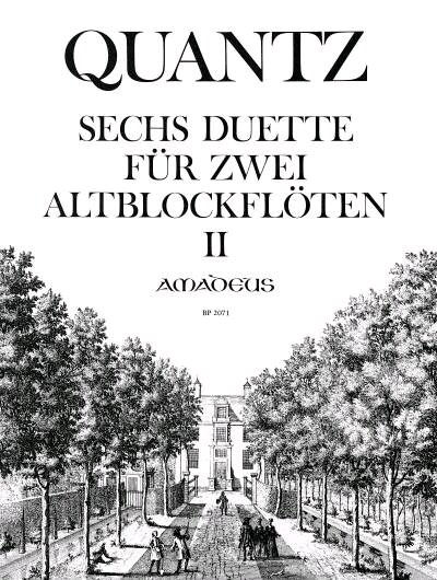 6 Duetten 2 Op.2  Johann Joachim Quantz   2 Alto Recorders /  / Amadeus : photo 1
