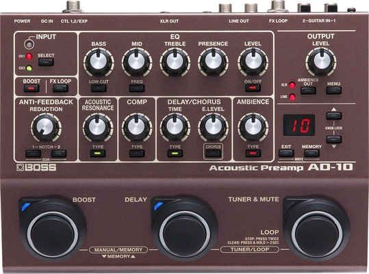 Boss AD-10 ACOUSTIC PREAMP & MULTI EFFECTS