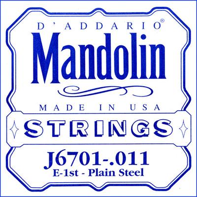D'Addario Mandoline 1 E-MI Plain Steel .011 (Set J67)