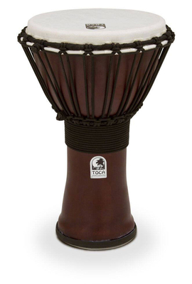 Toca Djembe Freestyle II Rope Tuned Dark Red Toca Percussion