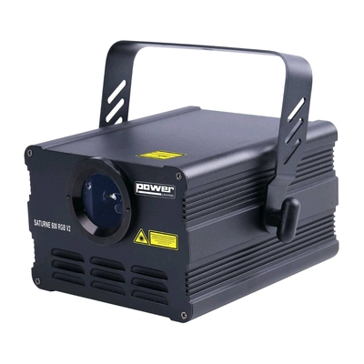 Power Lighting SATURNE 500 RGB V2  Laser à animations Rouge Vert Bleu 500 MW