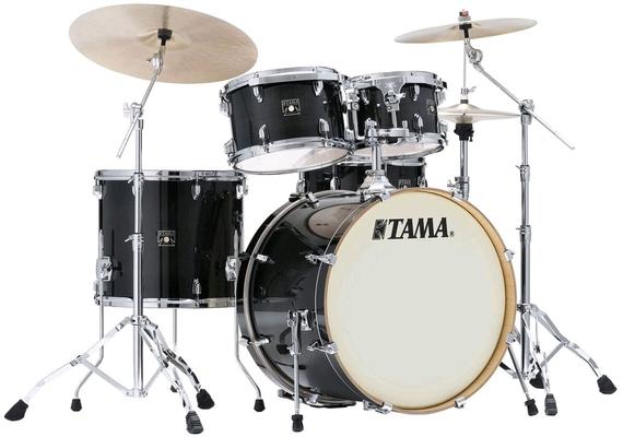 Tama CL52KRS-TPB Superstar Classic Maple 22/10/12/16/14X6.5 Transparent Black Burst Livré sans hardware et Cymbales