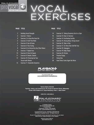 Vocal Exercises for Building Strength Endurance and Facility – Pro Vocal Mixed Editions    Melodyline Lyrics and Chords Pro Vocal /  / Hal Leonard : photo 2