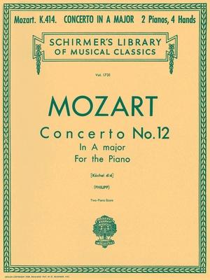 Concerto N 12 en la Majeur KV 414 / Mozart Wolfgang Amadeus / Schirmer