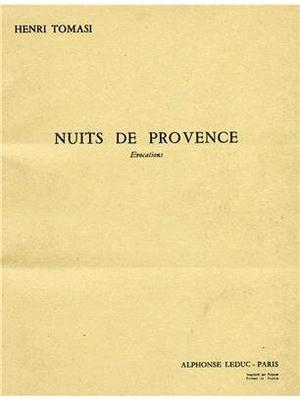 Nuits De Provence Henri Tomasi  Orchestra / Henri Tomasi / Leduc