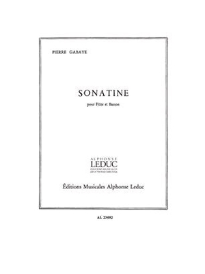 Sonatine Gabaye  Flute and Bassoon / Gabaye Pierre / Leduc