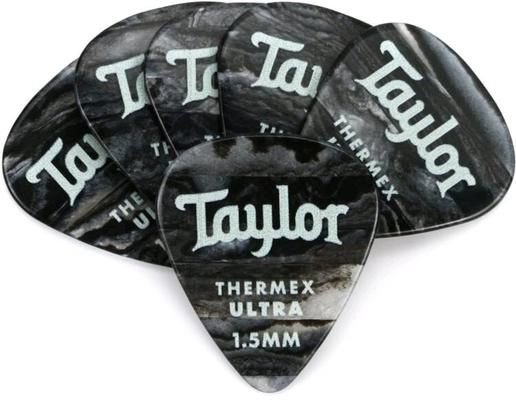 Taylor Premium Thermex Ultra Picks Black Onyx 1.50 MM 6 pack