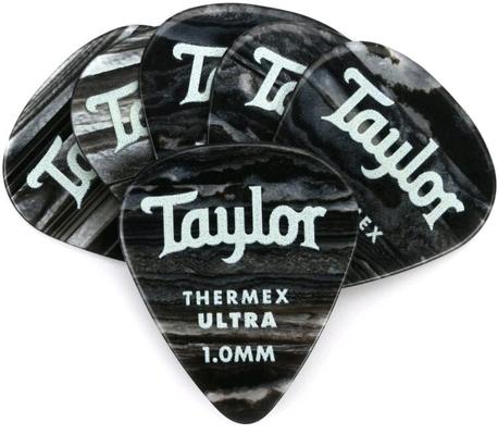 Taylor Premium Thermex Ultra Picks Black Onyx 1.00 MM 6 pack