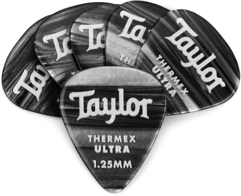 Taylor Premium Thermex Ultra Picks Black Onyx 1.25 MM 6 pack