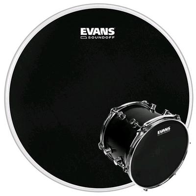 Evans Peau de batterie Evans SoundOff à maille noire, 10» – simple-pli