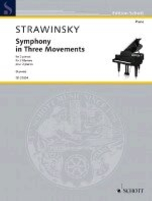Symphony In Three Movements Arranged For 2 Pianos By Richard Rijnvos (2017) / Igor Stravinsky / Schott