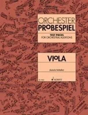Orchester Probespiel ViolaKlangbeispiele wichtiger Passagen aus der Opern- und Konzertliteratur / Kurt Jenisch Eckart Schloifer / Schott