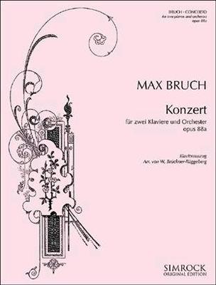 Konzert für zwei Klaviere und Orchester op. 88a / Max Bruch / Simrock