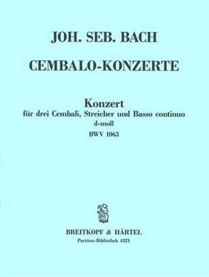 Cembalokonzert d-moll BWV 1063Conducteur / Johann Sebastian Bach / Breitkopf