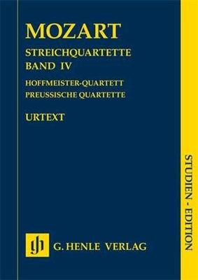 String Quartets Volume IVHoffmeister Quartet and Prussian Quartets / Wolfgang Amadeus Mozart Wolf-Dieter Seiffert / Henle