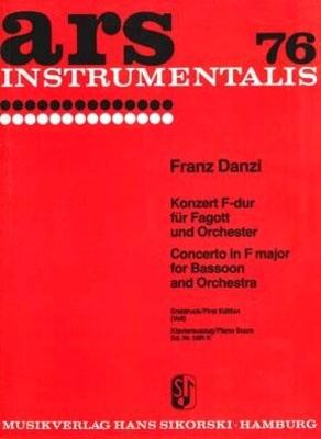 Konzert für Fagott und Orchester / Franz Danzi Joachim Veit / Sikorski