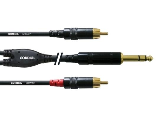 Cordial CFY 1.5 VCC câble Y 15m Jack – 2x RCA