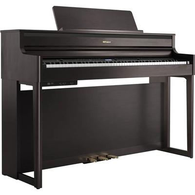 Roland HP704-CH Premium Concert ClassPiano Char + Piano stand KSH704/2CH