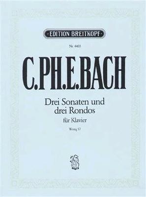 Die 6 Sammlungen, Heft 3 Wq 57 / Carl Philipp Emanuel Bach Carl Krebs / Breitkopf