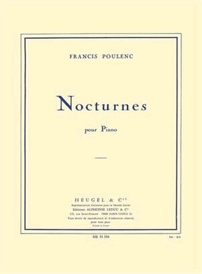 Nocturnes For Piano Recueil Piano Francis Poulenc   ditions Heugel Klavier Buch / Francis Poulenc / Heugel
