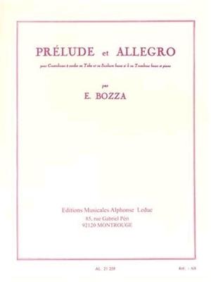 Prélude et AllegroContrebasse et Piano / Eugène Bozza / Leduc
