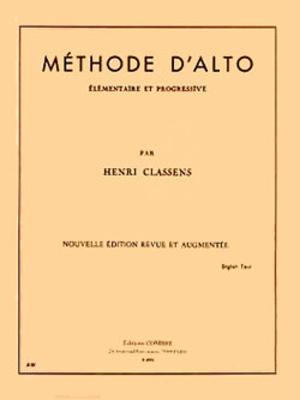Méthode d'alto (élémentaire et progressive) CLASSENS Henri / Henri Classens / Combre