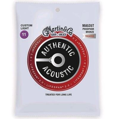Martin & Co MA535T Authentic Acoustic, Lifespan Treated – 92/8 Phos. Bronze .011-.052 – Custom Light