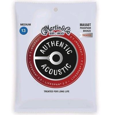 Martin & Co MA550T Authentic Acoustic, Lifespan Treated – 92/8 Phos. Bronze .013-.056 – Medium